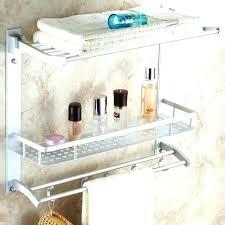 towel storage rack. Bathroom Shelf And Towel Rack With Bar . Storage