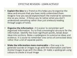 exam skills focusing on exams essay questions  effective revision learn actively 12