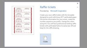 microsoft raffle ticket template tear off raffle tickets how to get a free raffle ticket template for