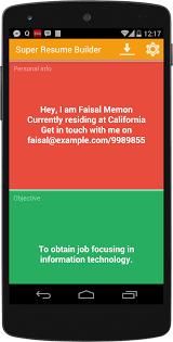 Super Resume Builder Pro, CV- screenshot