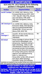Job Java Developer Ii Dakshina Kannada Karnataka It