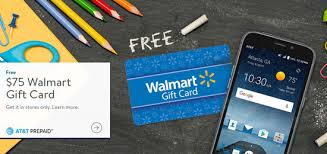 at t prepaid promotion gives 75 walmart gift card with phone purchase