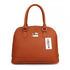 Coach City In Logo Medium Brown Satchels 164