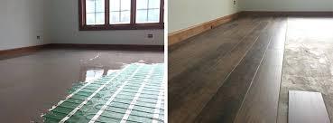 heated vinyl floor how to install radiant floor heating under luxury vinyl tile