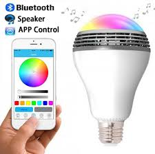 Smart Music Lighting Speaker Manual Bluetooth Speaker Led Light Wireless E27 Smart Led Light Bulbs Lamp Lighting With Rgb Color Changing Music Player Smartphone App Controlled For