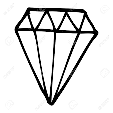 Line Drawing Cartoon Tattoo Diamond