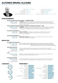 Resume Of Architecture Student The Top Architecture RésuméCV Designs ArchDaily 1
