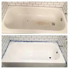 refinish bathtub bath fiberglass cost surround refinishing houston