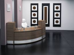 office reception interior. awesome office reception furniture featured curved glass top desk also stylish swivel chair and large black interior