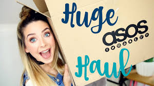 huge holiday asos haul try on zoella