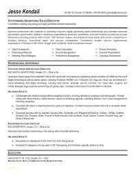 Ad Sales Sample Resume New Resume Templates Executive With Classic Template Free Download Best