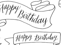 Happy Birthday Banners By Traci Williams Dribbble Dribbble