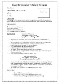 Sales Representative Resume Template | Formsword: Word Templates .