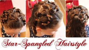Fourth Of July Hairstyles Star Spangled Hairstyle Cute 4th Of July Girls Hairstyle