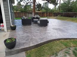 Simple Stained Concrete Patio Modern Ideas With Landscape Colored Dyed To Beautiful Design