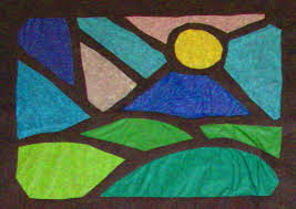 stained glass tissue paper
