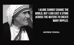 Famous Quotes About Change Cool Mother Teresa Famous Quote I Alone Cannot Change The World But I Can