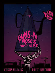 Guns N Roses Winston Salem Seating Chart Guns N Roses Gig Poster Not In This Lifetime Tour August 11