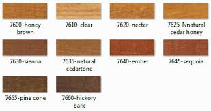 Weather Color Chart Rymar Extreme Weather Wood Sealer