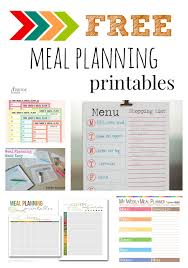 free menu planner five fabulous free meal plan printables diy ideas pinterest