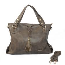 Coach Bleecker Tassel Large Grey Satchels CIC