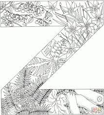 Engels Alfabet Met Planten Kleurplaten Gratis Printbare