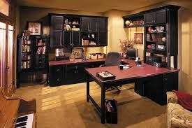 interesting home office desks design black wood. Fabulous Excellent Letter U Shaped Best Home Office Desk Also Several Black Wall Cabinets Have Interesting Desks Design Wood L