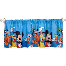 Curtain Valances For Bedroom Disney Mickey Mouse Window Valance Walmartcom