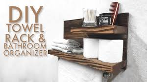 diy towel rack  bathroom organizer  modern builds  ep   youtube
