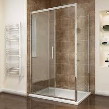 sliding shower enclosure 8mm easy clean glass shower cubicle door with shower tray side panel