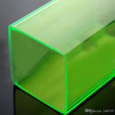 2019 plastic acrylic plexiglass clear square od25x25x1000mm led decor can cut customise any size and color from yu0119 211 06 dhgate com