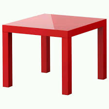 ikea lack high gloss red side table