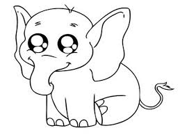 Small Picture Elephant Animal Coloring Pages African Elephant Coloring Page