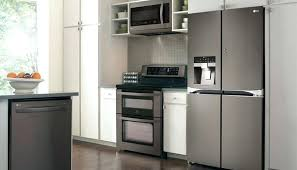 black stainless steel appliances reviews. Contemporary Stainless Black Stainless Steel Fridge Lg Debuts Kitchen Appliances  Reviews Throughout