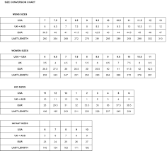 Korean Shoe Size Conversion Chart Size Guide Fila