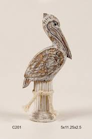 pelican on post hand carved pelican on wooden