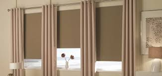 blinds and curtains on same window. Plain And Grommet Drapes Are Elegant Noise Reducing Window Treatments Intended Blinds And Curtains On Same R