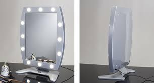 G Pleasing Lighted Makeup Mirror Make Up Vanity  Wall Mount Light