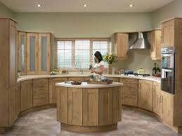 Natural Oak Kitchen Cabinets Tuscany Natural Oak For Fitted Kitchen Design Home Picture