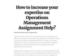 best operations management assignment help images  how to increase your expertise on operations management assignment help