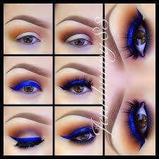 electric blue eyeshadow for brown eyes makeup tutorials guide