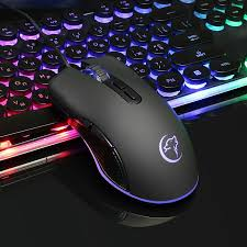wer <b>Mini Optical Wired</b> Mouse 4 Colors LED Light Gaming Mice ...