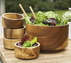 terrablack décor tabletop wood salad bowls