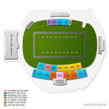 Rhodes Stadium 2019 Seating Chart