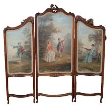 lot 78 hand painted wood fire place screen