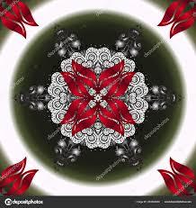 традиционный индийский стиль декоративных цветочных элементов тату