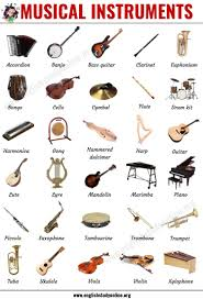 Big vector set eps 8 on white background. Musical Instruments List Of 30 Popular Types Of Instruments In English English Study Online