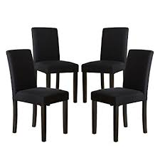 thksbought set of 4 modern fabric upholstered dining chairs elegant design dining room chairs black