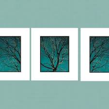 contemporary tree set teal home decor wall art matted picture australia on home decor wall art au with contemporary tree set teal home decor wall art matted picture