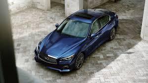 infiniti q50 interior at night. 2017 infiniti q50 sedan exterior overview of doublewaved hood in iridium blue interior at night